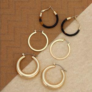 🖤Coming Soon🖤 Triple Hoop Earring Set